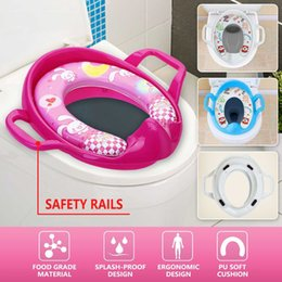 boys urinals Australia - Child Toddler Kids Portable Safety Seats Soft Toilet Training Trainer Potty Seat Handles Urinal Cushion Pot Chair Pad Mat CX200605
