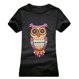 $enCountryForm.capitalKeyWord Australia - NEW 2018 Owl Printing T shirt Women Fashion Summer Women T-Shirt Streetwear Cotton top tees red black grey