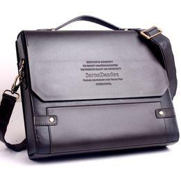High Quality Leather Mens Business Bag Australia - Men's PU leather laptop bag mens briefcases high quality lawyer handbag tote business bag men #376240