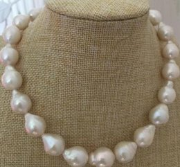 $enCountryForm.capitalKeyWord Australia - gorgeous 14-16mm south sea baroque white pearl necklace 18inch 925silver