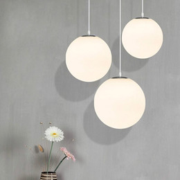 glass globe for light Australia - Modern Pendant Lights Globe Pendant Lamps Glass Ball Hanglamp Light Fixtures Lighting Light for Living room lustre