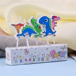 cake decorating supplies NZ - Cheap Decorating Supplies 5 PCS Birthday Party Dinosaur Cartoon Candles Decoration Topper Cake Pick for Party Cake Kids Birthday