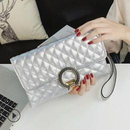 $enCountryForm.capitalKeyWord Australia - w69 New spring 2019 European and American style female bag pure color diamond grid chain bag hand shoulder bag