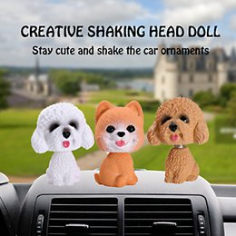 shaking car dolls UK - Dashboard Decoration Car Ornament Cute Shake Head Nodding Dog Doll Automotive Interior Bobblehead Puppy Figure Toys Accessories