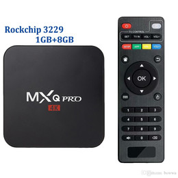 264 player NZ - 50pcs Original MXQ PRO Quad-Core H.264 H.265 Android TV BOX Rockchip RK3229 Streaming Player