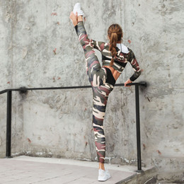 $enCountryForm.capitalKeyWord UK - Yiwu European and American wish pop-up camouflage printed cap Yoga suit breathable running exercise tight Yoga Pants 2 pieces