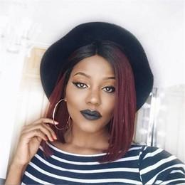1b bob wigs online shopping - 1b j Ombre Full Lace Human Hair Wigs Bob Wig Short Human Hair Wigs For Women Lace Front Wig Remy Brazilian