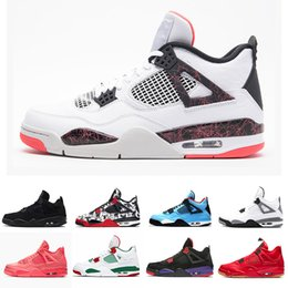 $enCountryForm.capitalKeyWord Australia - Box With Cheap Top 4 Men Basketball Shoes Sneakers Thunder Flight Nostalgi Cement Pure Money Bred Royalty Game Royal 4s Sports Shoes Us 8-13