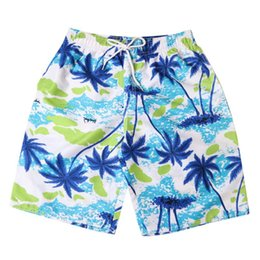surf compression shorts UK - Coconut tree Men's Shorts Swim cargo shorts Trunks Quick Dry Beach Surfing Running Swimming Watershort mens compression