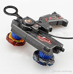 Venta al por mayor de Venta al por mayor 3 piezas Beyblade Duotron principal lanzador doble Bey metal tapa giratoria, juguetes para niños 3 colores opcionales