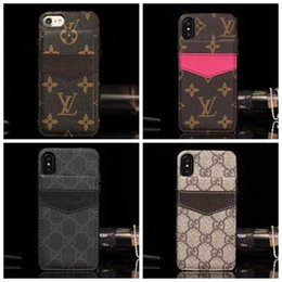 Designer iphone online shopping - Luxury designer Phone Cover for iphone X XS XR Xs Max plus plus Card Holder Case for Samsung S10 S10plus S8 S9 plus Note8 A06