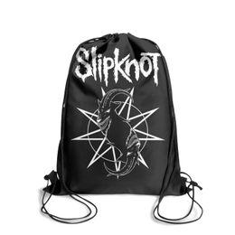 $enCountryForm.capitalKeyWord UK - Drawstring Sports Backpack Heavy Metal Band Slipknot Music outdoor durable sinch sack Travel Fabric Backpack