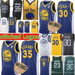 Golden State 30 Stephen Curry Warriors Jersey New 35 Kevin Durant 11 Klay  Thompson 23 Draymond Green 9 Andre lguodala 2018 Finals Bound f1f789daf