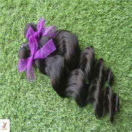 6a Deep Wave Hair Australia - Black Color Indian Deep Wave Hair Weave Bundles 1Pcs lot 100% Human Hair Weaving Unprcessed 6A Virgin Double Weft Hair Extensions