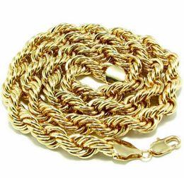 14k Twisted Chains Australia - 18K Gold twist chain necklace Metal twist 10mm thick 90cm long twist chain necklace