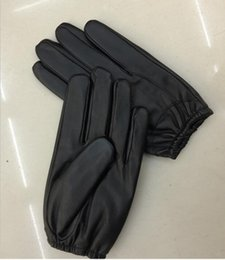 leather gloves for men Australia - Men's leather gloves thin section sheepskin short leather gloves winter touch screen warm driving glove mittens for man