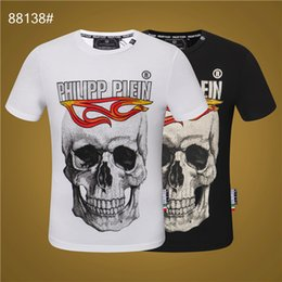 men wearing satin shirts Australia - 2020 brand designer summer skull street wear European fashion men designer high quality cotton T-shirt casual short sleeve T-shirt