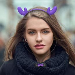 $enCountryForm.capitalKeyWord Australia - Hair Hoop Headphones Flashing Glowing Comfortable Neckband Bluetooth Stereo Cat Ear Headset Rabbit Deer Devil headphone With Mic Earbuds DHL