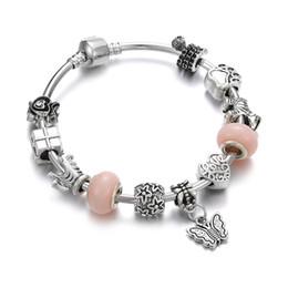 ebbf5e237 Antique Women Bracelet Cat Claw Butterfly Pendant Beads Retro Charms  Bracelets Bangles Child Armband Kids Jewelry Girl Gift DIY