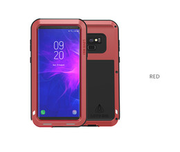 Discount note love mei case For Samsung Galaxy note 9 Case LOVE MEI Shock Dirt Proof Water Resistant Metal Armor back Cover Case for samsung note 8