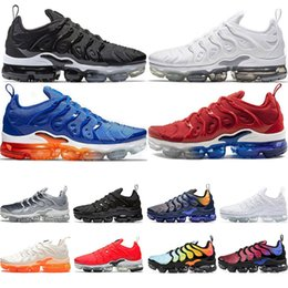 With box New 2019 Mens Sneakers TN Plus Breathable Air Cusion Desingers Casual Running Shoes Arrival chaussures Sneakersvapormax from cosmetic stickers manufacturers
