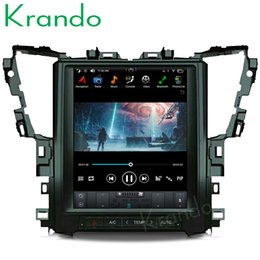 "Multimedia Player For Car Australia - Krando Android 6.0 12.1"" Tesla Vertical car multimedia player GPS for Toyota Alphard 2015-2018 radio audio car dvd navigation system BT"