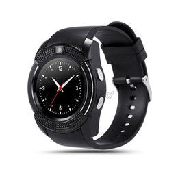 A1 Smart Watch Australia - V8 SmartWatch Bluetooth Smartwatch Touch Screen Wrist Watch with Camera SIM Card Slot, Waterproof Smart Watch PK DZ09 GT08 A1