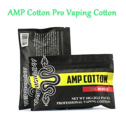 cotton wick wholesale Australia - 12pcs bag Amphisbaena Orgnic Cotton For E Cigarette RDA RDTA Wick Cotton Accessories Vaporizer Atomizer Coil VS Vape