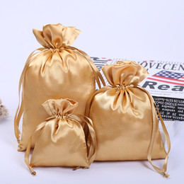 $enCountryForm.capitalKeyWord NZ - 50 Silk Stain Drawstring Bag with Ribbon Rope for Jewelry Hair Travel Watch Shoes Diamond Bead Ring Makeup Gift Packaging Pouch