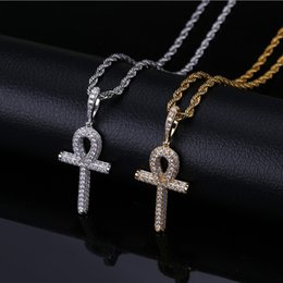 $enCountryForm.capitalKeyWord Australia - 18K Gold Plated Pendant Necklaces Jewelry Luxury Exquisite Grade Quality Bling Zircon Micro Paved Key Hip Hop Necklaces Wholesale LN137