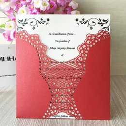 $enCountryForm.capitalKeyWord Australia - Laser Cut Vintage Glamour Wedding Marriage Invitation Cards Engagements Ceremony Invitations Of Marriage Bridal Shower Party