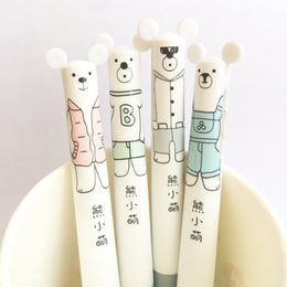 mechanical bearing NZ - Cute kawaii Cartoon Bear Automatic Mechanical Pencil School Office Supply Stationery Kid creative Ballpoint pen