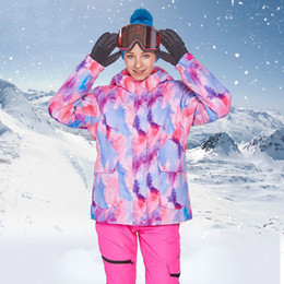 yellow ski suit Australia - 2019 Winter Suit for Women Hooded Warm Jackets Overalls Female Skiing Suits Sports Snowboarding Woman Snow Clothes Outfits