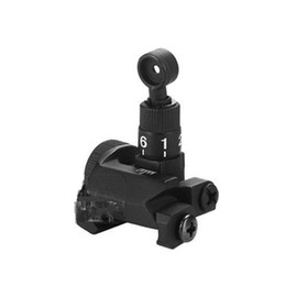 China Tactical SR16 600M Flip-Up Folding Backup Metal Iron Adjustable Rail Mount Rear Sight for hunting cheap flip mount suppliers