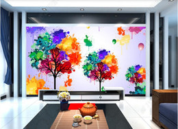 $enCountryForm.capitalKeyWord Australia - 3d wallpaper custom photo mural Colorful tree tv background wall paper design murals wallpaper for walls 3 d