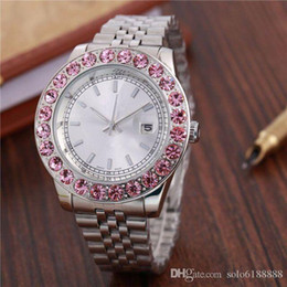 $enCountryForm.capitalKeyWord Australia - 2018 New Fashion Style Women man Watch Lady Silver Diamond Wristwatch Steel Bracelet Chain Luxury Lover Watch High Quality Folding Watches