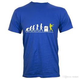 Blue Cotton Men Australia - 2018 Short Sleeve Cotton T Shirts Man Clothing Zombie Evolution Men's Blue T-Shirt100% Cotton Print Mens Summer O-Neck