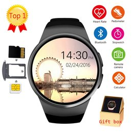 $enCountryForm.capitalKeyWord Australia - KW18 Smart Watch Men Support SIM TF Card Bluetooth Call Heart Rate Pedometer Sport Waterproof Smartwatch For Android IOS (Retail)