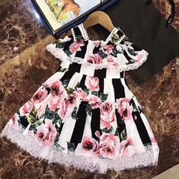 mini bridesmaid tutu dresses 2019 - Kids Baby Girls Lace Floral Princess Dress Elegant Flower Party Pageant Dress Gown Bridesmaid Vestidos cute meisjes kled