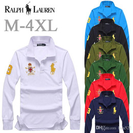 Polo men ralPh online shopping - ralph polos mens Business Leisure shirt men ralph Embroidery lauren Breathable shirts classic Brand polo fashion Wild polo shirt