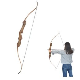 $enCountryForm.capitalKeyWord Australia - 60 inch Archery Bow 20-55 lbs Powerful wooden Recurve Bow for Right Hand Outdoor Hunting Shooting Traditional Long Bow With Target