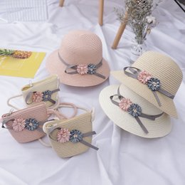 $enCountryForm.capitalKeyWord NZ - INS Straw Bag Summer Boho Handbags For Girls Handbag Children Wallet Kids Girls Hat Purse Flap Vintage Baby Money Mini Bag