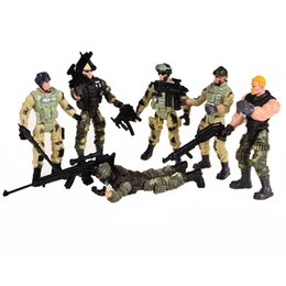 $enCountryForm.capitalKeyWord NZ - model cars ford mustang 6 pcs American Privates Modern Toy Soldiers Models With Joint Movable With Weapons