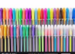 $enCountryForm.capitalKeyWord Australia - 12 24 36 48pcs Gel Pen Set Refills Metallic Pastel Neon Glitter Drawing Color Pen School Stationery Marker for Kids Gifts