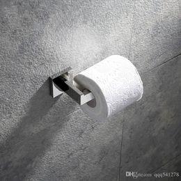 Chrome Metal Rack Australia - Mirror surface bathroom toilet paper holder wall mounted stainless steel paper rack bathroom hardware accessories