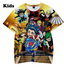 red beyblade NZ - 3D Beyblade Burst Evolution t shirt boys girls T-shirts print Beyblade Burst Evolution Kids Casual Summer children's 3D t shirt Y200104