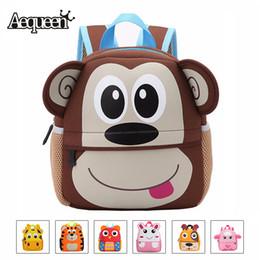 AEQUEEN Cute Kid Toddler Animal Backpack Infant Schoolbags Bag Small Mini  3D Dog Anime Children Baby Girls Boys School Backpacks Y18120303 6785cd54c1db2