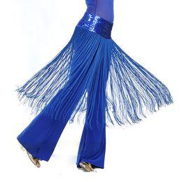 bc19272ff Women 5 colors Brilliant Belly Oriental Latin Dance Fringe Tassel Hip Scarf  Belt Skirt Vestidos