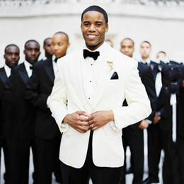 $enCountryForm.capitalKeyWord NZ - Latest Designs Ivory Men Suits Groom Wedding Tuxedo 2Piece Bridegroom Blazer Groomsmen Wear Jacket Pants Peaked Lapel Formal Evening Party