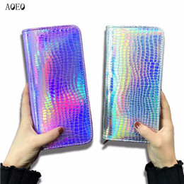 $enCountryForm.capitalKeyWord Australia - Aoeo Hologram Wallet Female Clutch Long Holographic Ladies Bag Girl With Zipper Coin Purse Card Id Holders Women Wallets Handy MX190718